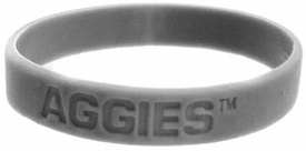 Official NCAA College School Rubber Bracelet TEXAS A&M Aggies [Gray]