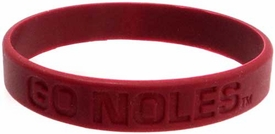 Official NCAA College School Rubber Bracelet FLORIDA STATE Seminoles  [Red]