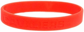 Official NCAA College School Rubber Bracelet VIRGINIA Cavaliers [Orange]