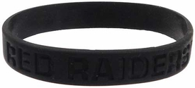Official NCAA College School Rubber Bracelet TEXAS TECH Red Raiders [Black]