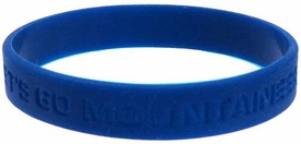 Official NCAA College School Rubber Bracelet WEST VIRGINIA Mountaineers  [Blue]