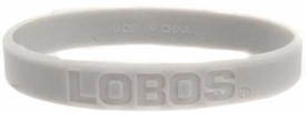 Official NCAA College School Rubber Bracelet NEW MEXICO Lobos [Gray]