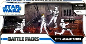 Star Wars 2009 Clone Wars Action Figure Battle Pack AT-TE Assault Squad