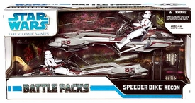 Star Wars Clone Wars Exclusive Action Figure Battle Pack Speeder Bike Recon