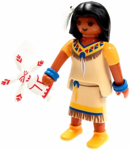 Playmobil Fi?ures Series 5 LOOSE Mini Figure Native American with Doll