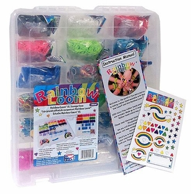 Official Rainbow Loom MEGA HOLIDAY GIFT SET [Deluxe Storage Case, Random Color 9000 Ct. Rubber Bands, Loom, Hook Tool & Mini Loom]
