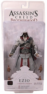 NECA Assassin's Creed Brotherhood Action Figure Master Assassin Ezio [Hooded IVORY Version]