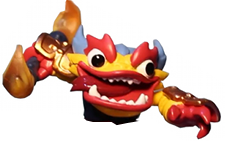 Skylanders Swap Force Swappable Loose Upper Body Fire