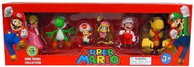 Super Mario Mini Figure 6-Pack Collection Series 3 [Dixie Kong, Toad, Yoshi, Fire Mario, Donkey Kong & Peach]
