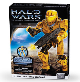 Halo Wars Mega Bloks Magnetic Figure Set #29674 YELLOW UNSC Spartan-II