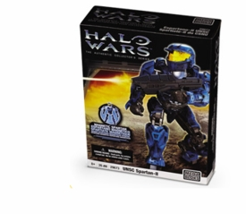 Halo Wars Mega Bloks Magnetic Figure Set #29673 BLUE UNSC Spartan-II