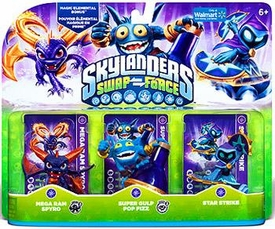 Skylanders SWAP FORCE Exclusive Figure 3-Pack Mega Ram Spyro, Super Gulp Pop Fizz, Star Strike