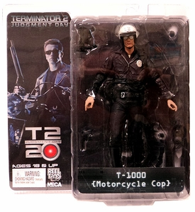 NECA Terminator Series 1 Action Figure T-1000 {Motorcycle Cop} [Terminator 2: Judgement Day]