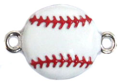 Undee Bandz Rubbzy Enamel Rubber Band Bracelet Charm Baseball BLOWOUT SALE!