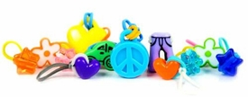 goloops! Charms for Rainbow Loom Bracelets Jumbo Girlie Assortment (28 goloops! Charms)