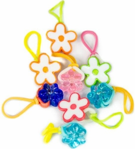 goloops! Charms for Rainbow Loom Bracelets Flower Power (8 goloops! Charms)