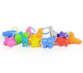 goloops! Animal Assortment Charms for Rainbow Band Loom Bracelets (12 Charms)