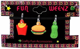 Fun Weevz Charms for Rainbow Band Loom Bracelets Junk Food (3 Charms)