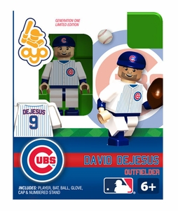 OYO Baseball MLB Building Brick Minifigure David DeJesus [Chicago Cubs]