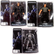 NECA Terminator 2: Judgement Day Series 1 Set of 3 Action Figures [Endoskeleton, T-800 Pesdadero, T-800 Man or Machine]