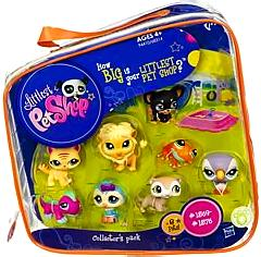 Littlest Pet Shop #2 Collector's Pack of 8 Pets [Frog, Parrot, Owl, Lion, Gecko, Ferret, Dog & Cat]