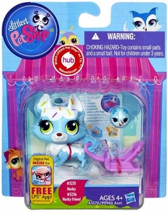 Littlest Pet Shop Figure 2-Pack Husky & Husky Friend