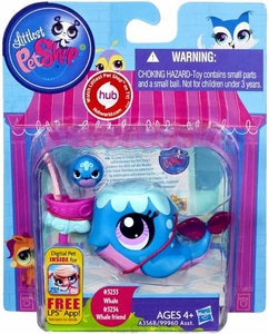 Littlest Pet Shop Figure 2-Pack Whale & Whale Friend