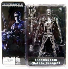 NECA Terminator 2: Judgement Day Series 2 Action Figure Battle Damaged Endoskeleton with Plasma Cannon