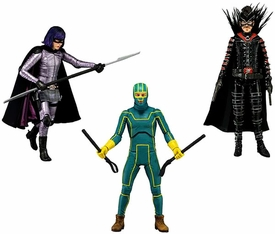 NECA Kick Ass 2 Series 1 Set of 3 Action Figures [Kick-Ass, Hit-Girl, MF'er] BLOWOUT SALE!