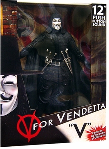 NECA V For Vendetta Deluxe 12 Inch Talking Action Figure V