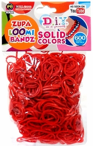 D.I.Y. Do it Yourself Bracelet Zupa Loomi Bandz 600 Red Rubber Bands with 'S' Clips