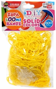 D.I.Y. Do it Yourself Bracelet Zupa Loomi Bandz 600 Yellow Rubber Bands with 'S' Clips