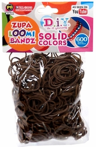 D.I.Y. Do it Yourself Bracelet Zupa Loomi Bandz 600 Brown Rubber Bands with 'S' Clips  MEGA Hot!