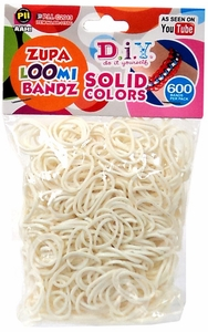 D.I.Y. Do it Yourself Bracelet Zupa Loomi Bandz 600 White Rubber Bands with 'S' Clips