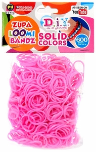 D.I.Y. Do it Yourself Bracelet Zupa Loomi Bandz 600 Pink Rubber Bands with 'S' Clips