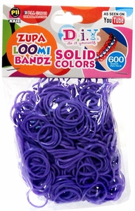 D.I.Y. Do it Yourself Bracelet Zupa Loomi Bandz 600 Purple Rubber Bands with 'S' Clips