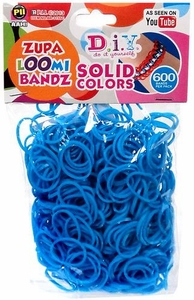 D.I.Y. Do it Yourself Bracelet Zupa Loomi Bandz 600 Light Blue Rubber Bands with 'S' Clips