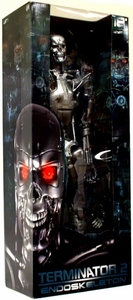 NECA Reel Toys 18 Inch Poseable Action Figure with Light Up Eyes Terminator 2 T-800 Endoskeleton