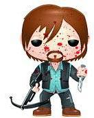 Funko POP! Walking Dead PX Previews Exclusive Vinyl Figure Biker Daryl Dixon [Bloody] New!