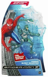 Spider-Man 3 Hasbro Movie Action Figure Poison Blast Scorpion [Water Shooting Tail]