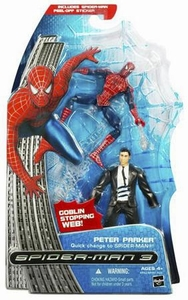 Spider-Man 3 Hasbro Movie Action Figure Peter Parker [Quick Change to Spider-Man]