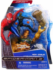 Spider-Man 3 Hasbro Movie Ooze Attack Action Figure New Goblin with Sand Compound