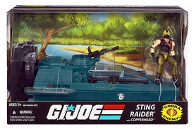 GI Joe 25th Anniversary Vehicle Sting Raider [Water Moccasin] with Copperhead