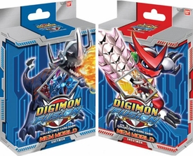 Digimon Fusion Collectible Card Game Set of Both Starter Decks [Greymon & Shoutmon] New Hot!