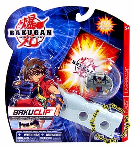 Bakugan Battle Brawlers Game BakuClip Luminoz [Grey] [Random Bakugan Figure] BLOWOUT SALE!