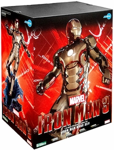 Marvel Iron Man 3 Kotobukiya ArtFX 15 Inch Fine Art Statue Iron Man Mark 42
