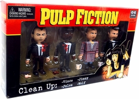 NECA Pulp Fiction Geomes 4 Figure Set #3 Clean Up [Vince, Jules, Jimmy & The Wolf]