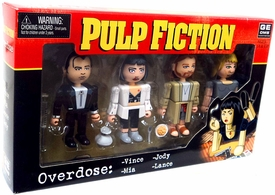 NECA Pulp Fiction Geomes 4 Figure Set #4 Overdose [Vince, Mia, Lance and Jody]