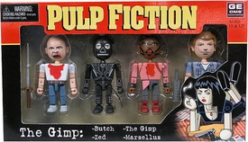 NECA Pulp Fiction Geomes 4 Figure Set  #2 The Gimp  [Butch, The Gimp, Zed and Marsellus]