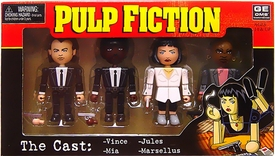 NECA Pulp Fiction Geomes Mini Figure 4-Pack Set #1 The Cast [Vince, Jules, Mia & Marsellus]